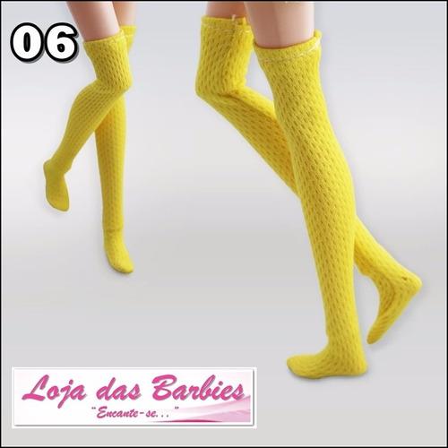 meias 7/8 para boneca blythe pullip licca * roupa * meia 06