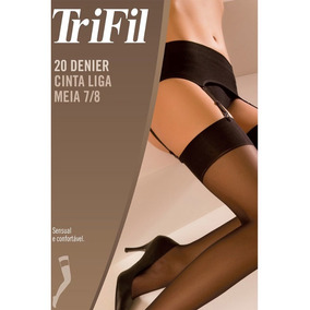 3eda60d48 Meia 7 8 E Cinta-liga Trifil Moda Intima Lingerie - Calçados