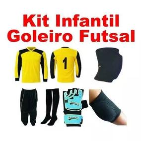 68369c4097b15 Uniforme Goleiro Futsal Infantil - Futebol no Mercado Livre Brasil