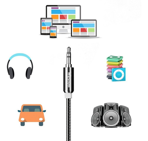meidong aux cable cable de audio auxiliar de 3.5mm premium (