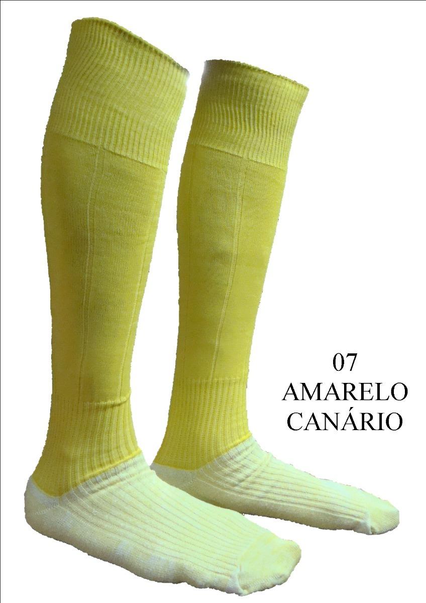 d8c325f163 Meião De Futebol Amarelo Canário Futsal Society Universal - R  14