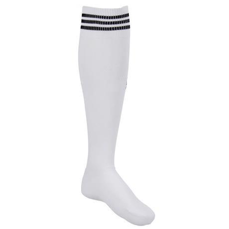71e208a53 Meião De Futebol Branco Com 3 Listras Azul Adulto Kit Com 35 - R ...