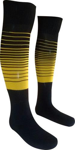meião degrade kit 3 pares preto com royal  amarelo celeste