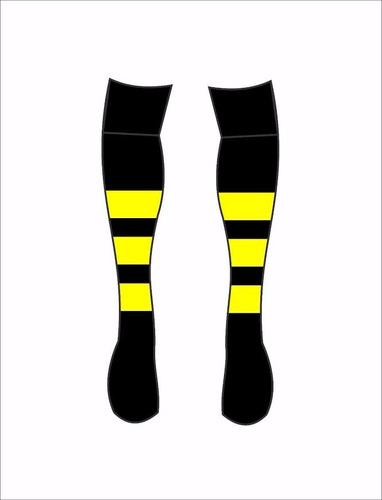meião futebol tamanho  adulto 39-43 listras   preto/amarelo