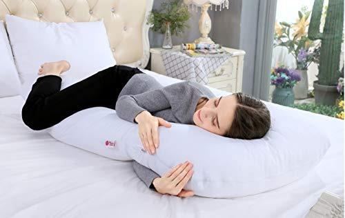 meiz 55 pulgadas embarazo almohada - u almohada de cuerpo e