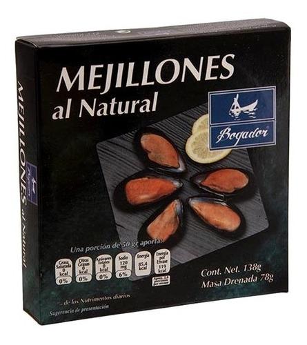 mejillones al natural bogador 138 gr.*