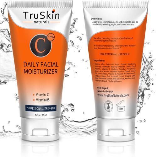 mejor crema humectante con vitamina c para rostro, cuello
