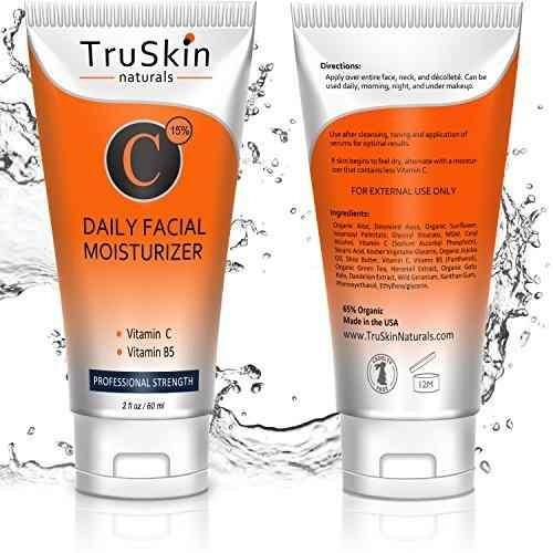 mejor crema humectante con vitamina c para rostro, cuello, e