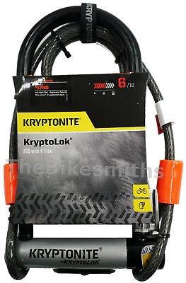 Stronger Kryptonite Kryptolok U-Lock w// 4/' Flex Cable Bike Mount Kryptolock