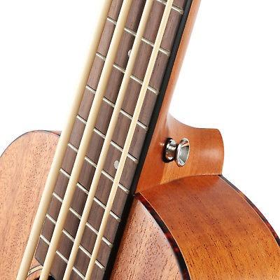 mejor dub-1 30 pulgadas eléctrico bajo ukulele cuerpo de