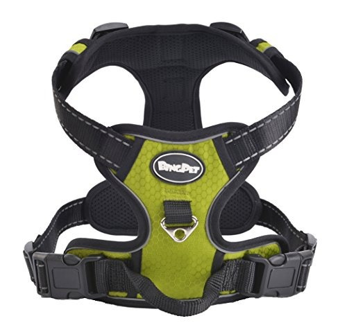 mejor front range n-pull perro harness.reflective aven u18