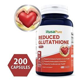 Mejor Reducido 500 Mg De Glutatión - 200 Cápsulas No Gmo