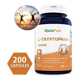 Mejores 200caps 1500 Mg L-triptófano (no-ogm Y Sin Gluten)
