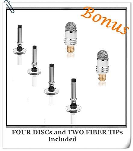 meko (2 piezas) [2 en 1 serie de precisión] disco stylus / s