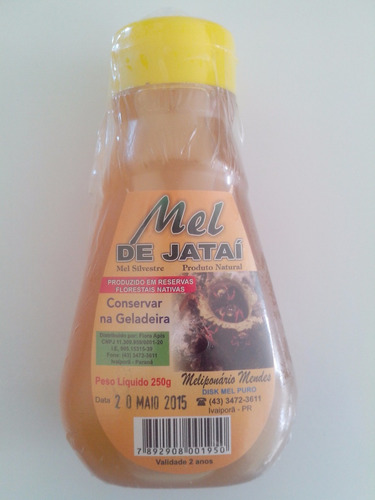 mel de jataí  100% puro com 250 gramas