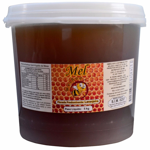 mel puro de abelhas europa - balde 5 kg - várias floradas