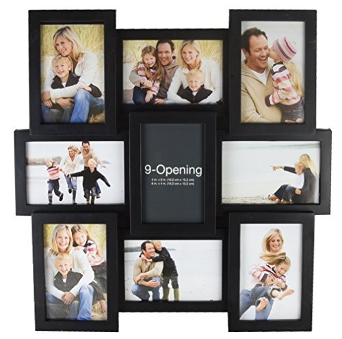 Melannco 9-opening Puzzle Collage Picture Frame, Negro - $ 122.389 ...