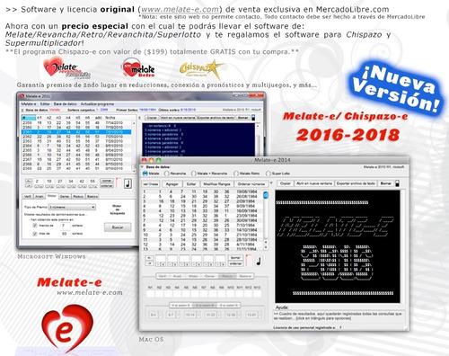 melate-e y chispazo-e | software estadística y herramientas