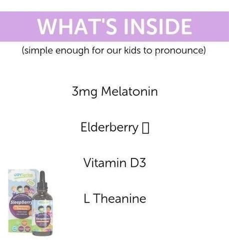 melatonina líquida sleepberry  niños - ayuda natural sue