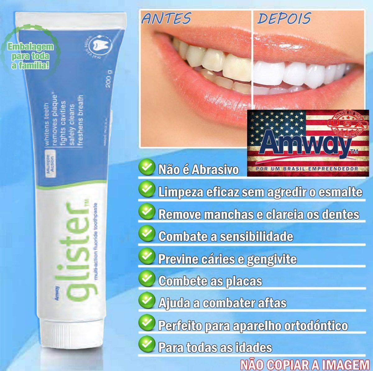 Melhor Creme Dental Do Mundo 100 Natural Glister Amway 5 Un R 115