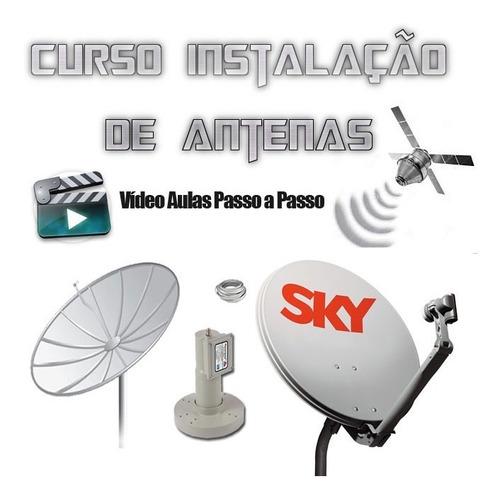 melhor curso de antenas banda ku e c completo 7 dvds