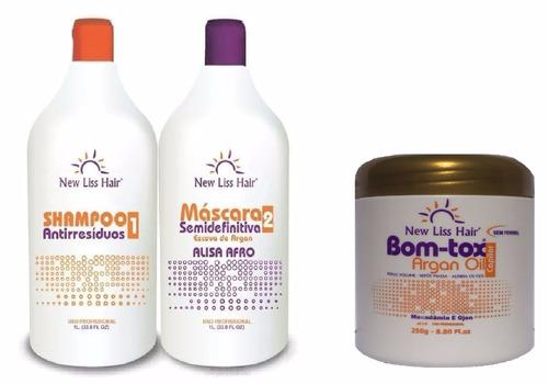 melhor new liss hair semi definitiva + botox 250g sem formol