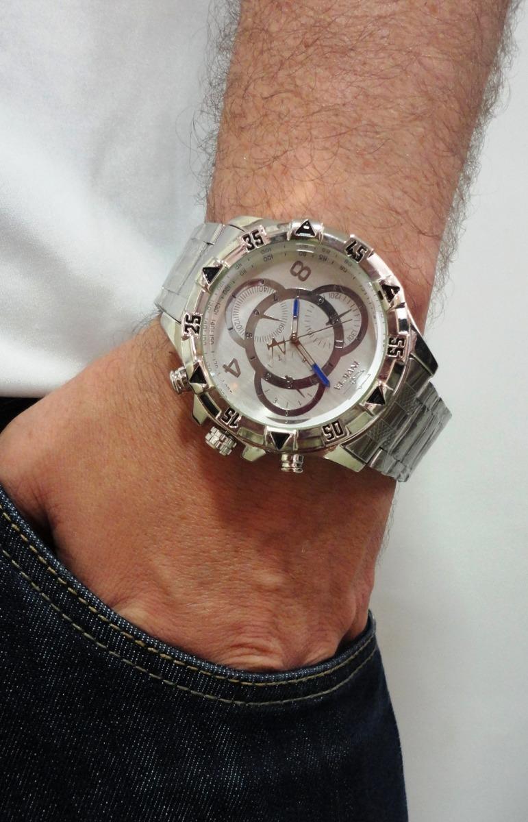 f967a66f218f4 melhor preço do mercado relógio masculino dourado grande. Carregando zoom.