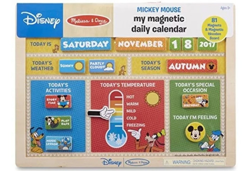 melissa and doug mickey mouse my magnetic daily calendar