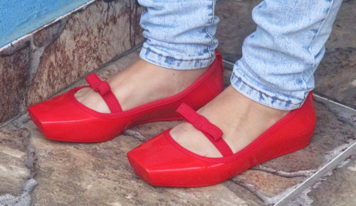 melissa ballet bow - tamanho 39/40 - vermelha - nova