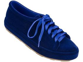 447e1a6568 Melissa Be Flocked A Azul Flocado 38 Tênis Original Novo