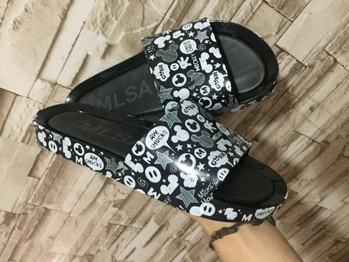 melissa beach slide nova estampa mickey e minnie nova 2018