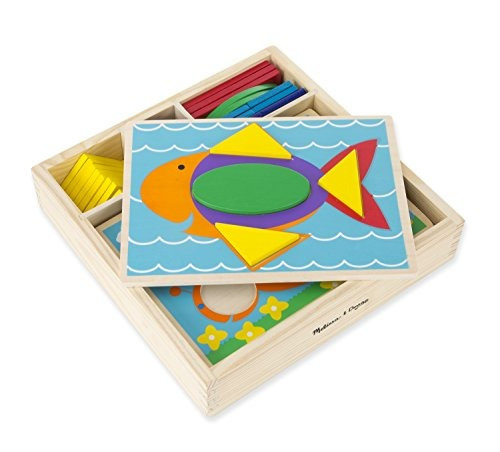 melissa - doug beginner wooden pattern blocks juguetes educa