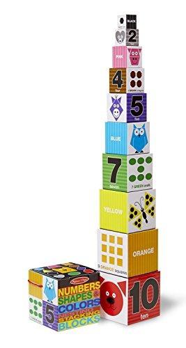 melissa - doug bloques de anidamiento y apilamiento: números