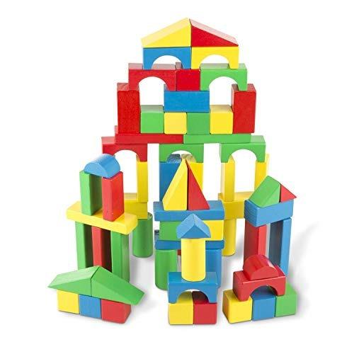 melissa - doug bloques de construccion de madera - 100 bloqu