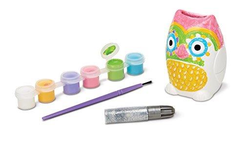 melissa  doug decora tu propio kit de artesanía de owl bank