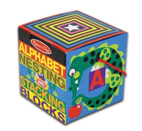 melissa doug deluxe bloques apilamiento y apilamiento alfabe