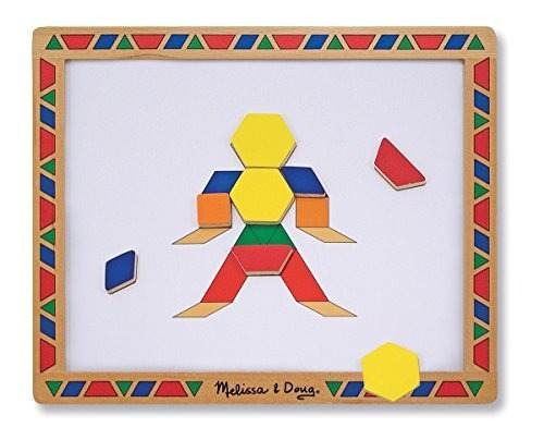 melissa - doug deluxe bloques de patrones magnéticos de made