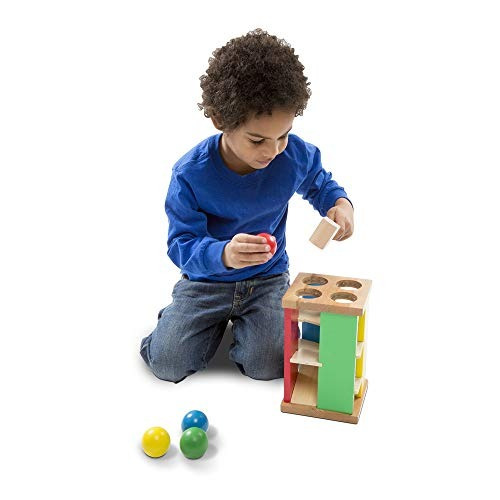 melissa & doug deluxe pound and roll juguete de madera con