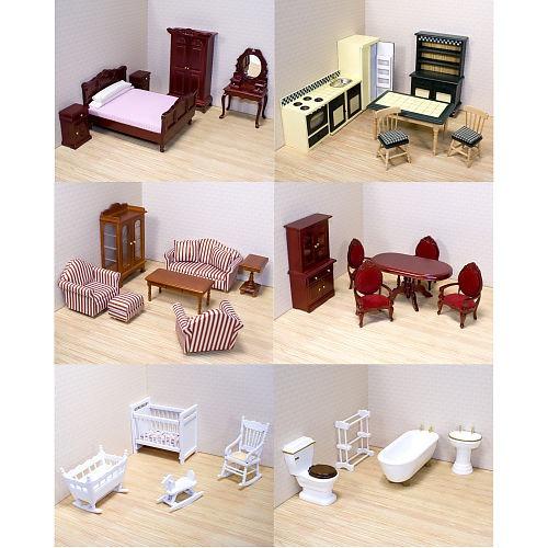 Melissa doug deluxe victoriana muebles casa de mu ecas for Muebles casa de munecas