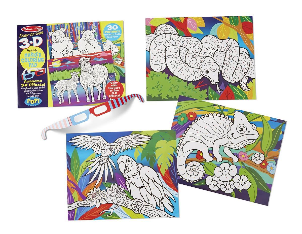 Melissa & Doug Dibujo Para Colorear 3-d Fácil De Ver - A ...