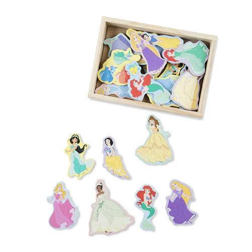 melissa & doug disney princess wooden magnets - 20 piezas