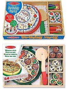 melissa & doug fiesta de pizza y torta de cumpleaños