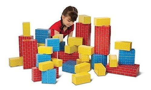 melissa & doug jumbo bloques de construcción de cartón extra
