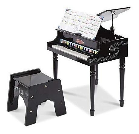 melissa  doug learntoplay piano de cola clásico con 30 tecla