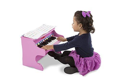 melissa  doug learntoplay pink piano con 25 teclas y un libr