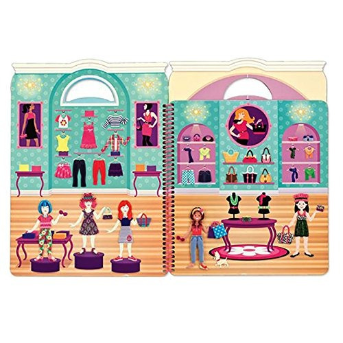 melissa & doug libro de pegatinas acolchadas- dia de glamour