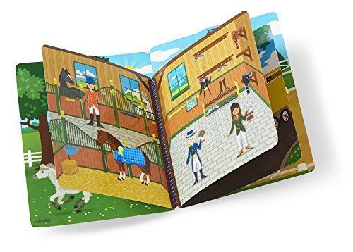 melissa & doug libro de pegatinas acolchadas- escenas de cab