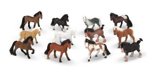 melissa - doug pasture pals - 12 caballos de coleccion con c