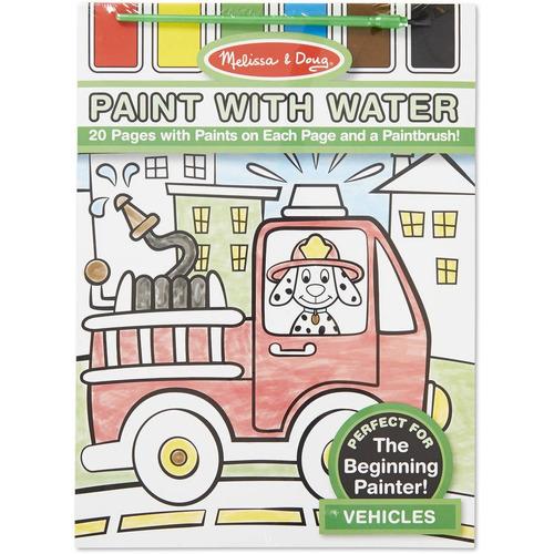 melissa & doug pintura con agua - vehículos