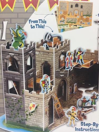 melissa & doug rompecabezas 3d castillo medieval